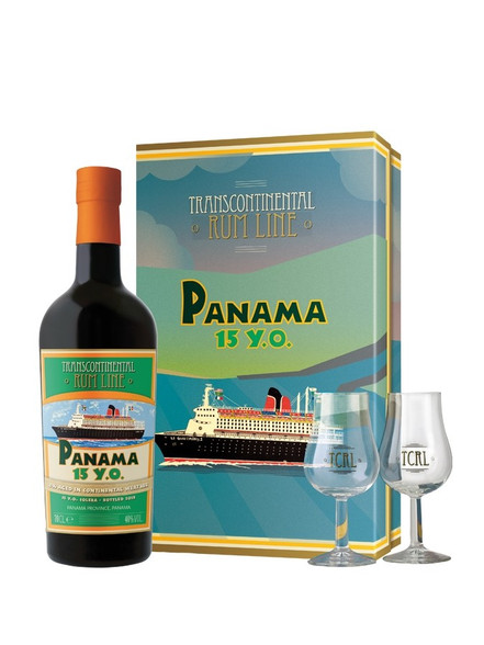 Panama 15YO rum with glasses set