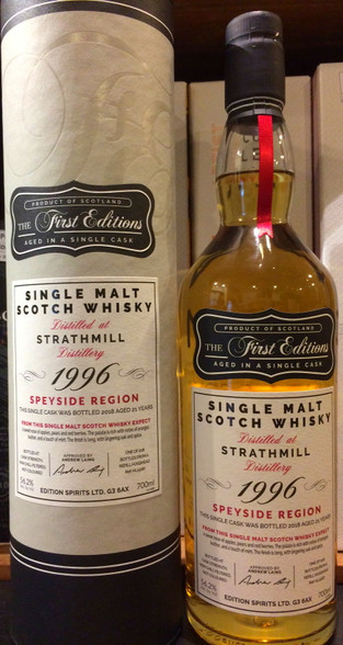 The First Editions Strathmill 1996 Speyside 21YO Single Malt