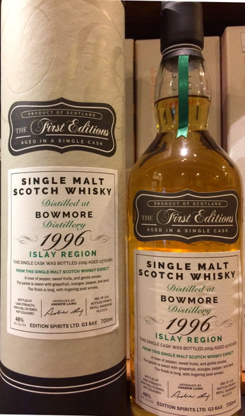 The First Editions Bowmore 1996 Islay 23YO Single Malt