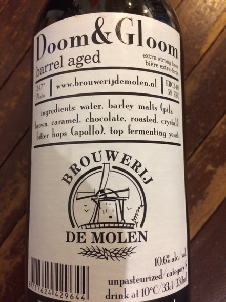 De Molen Doom & Gloom BA Imperial Stout