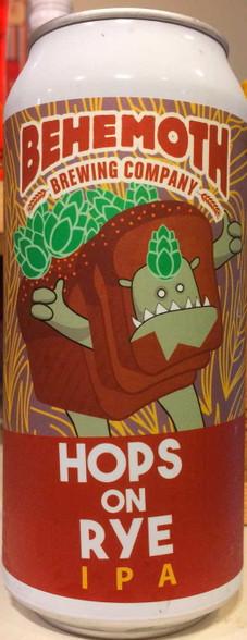 Behemoth Hops on Rye IPA CAN