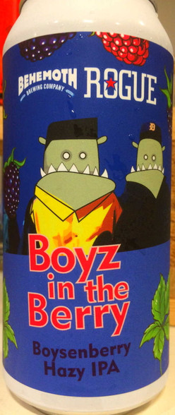 Behemoth Boyz in the Berry Boysenberry Hazy IPA CAN