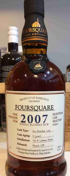 Foursquare 2007 Cask Strength Barbados Rum 12YO
