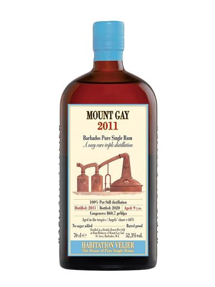 Mount Gay 2011 Pure Barbados Triple Distillation Rum 9YO Habitation Velie