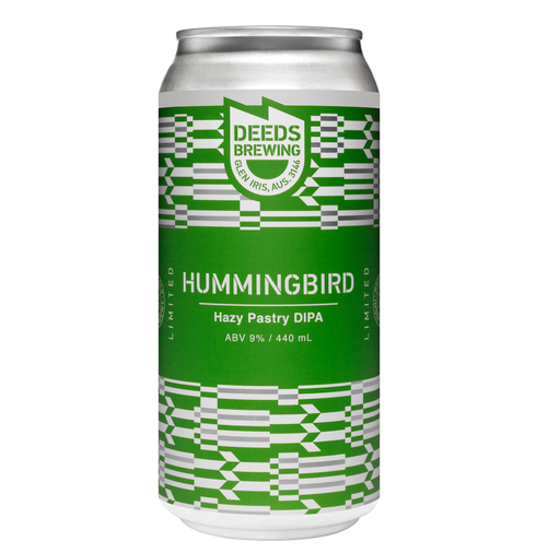 Deeds Brewing Hummingbird Hazy Pastry Double IPA