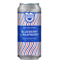 Deeds Brewing Milkbar Series Blueberry Raspberry Imperial Cream Sour