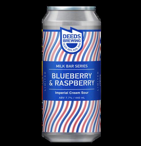 Deeds Brewing Milkbar Series Blueberry Raspberry Imperial Cream Sour