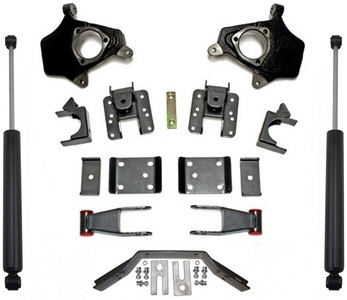 """2014-2016 GMC Sierra 1500 2wd/4wd (2pc Drive Shaft) 2/4"""" Lowering Kit - MaxTrac KS331524LB"""
