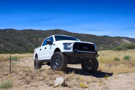 """2015-2021 Ford F150 2wd MaxPro 7"""" Front 4"""" Rear Lift Kit W/ MaxTrac Shocks - MaxTrac K883274 Installed"""