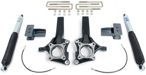 """2009-2014 Ford F150 2wd (W/O Factory Lift Blocks) 4"""" Front 2"""" Rear Lift Kit W/ Bilstein Shocks - MaxTrac K883142B"""