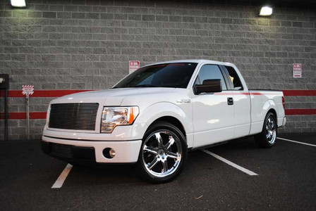"""2004-2014 Ford F-150 2wd Ext/Crew Cab 3/5"""" Lowering Kit - MaxTrac K333135 (Installed)"""