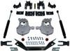 """2016.5-2018 Chevy Silverado 1500 2wd (2pc Drive Shaft) 2/4"""" Lowering Kit - MaxTrac KA331524LB"""