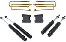 "1999-2006 GMC Sierra 1500 2wd 3"" Blocks And U-Bolts W/ Front And Rear MaxTrac Shocks - MaxTrac 900930"