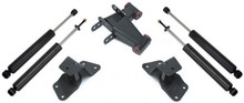 "1999-2006 Chevy Silverado 1500 2wd 4"" Hanger And Shackle Lowering Kit W/ Front And Rear MaxTrac Shocks - MaxTrac 200940"