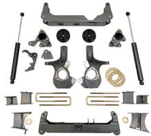 "2014-2016 Chevy Silverado 1500 4wd W/ Cast Steel Suspension 7/5"" Lift Kit W/ MaxTrac Shocks - MaxTrac K941570"