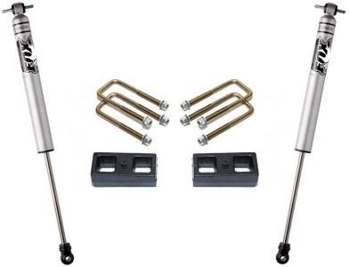 """2004-2020 Nissan Titan 2wd 2"""" Lift Blocks And U-Bolts W/ Rear FOX Shocks - MaxTrac 905320F"""
