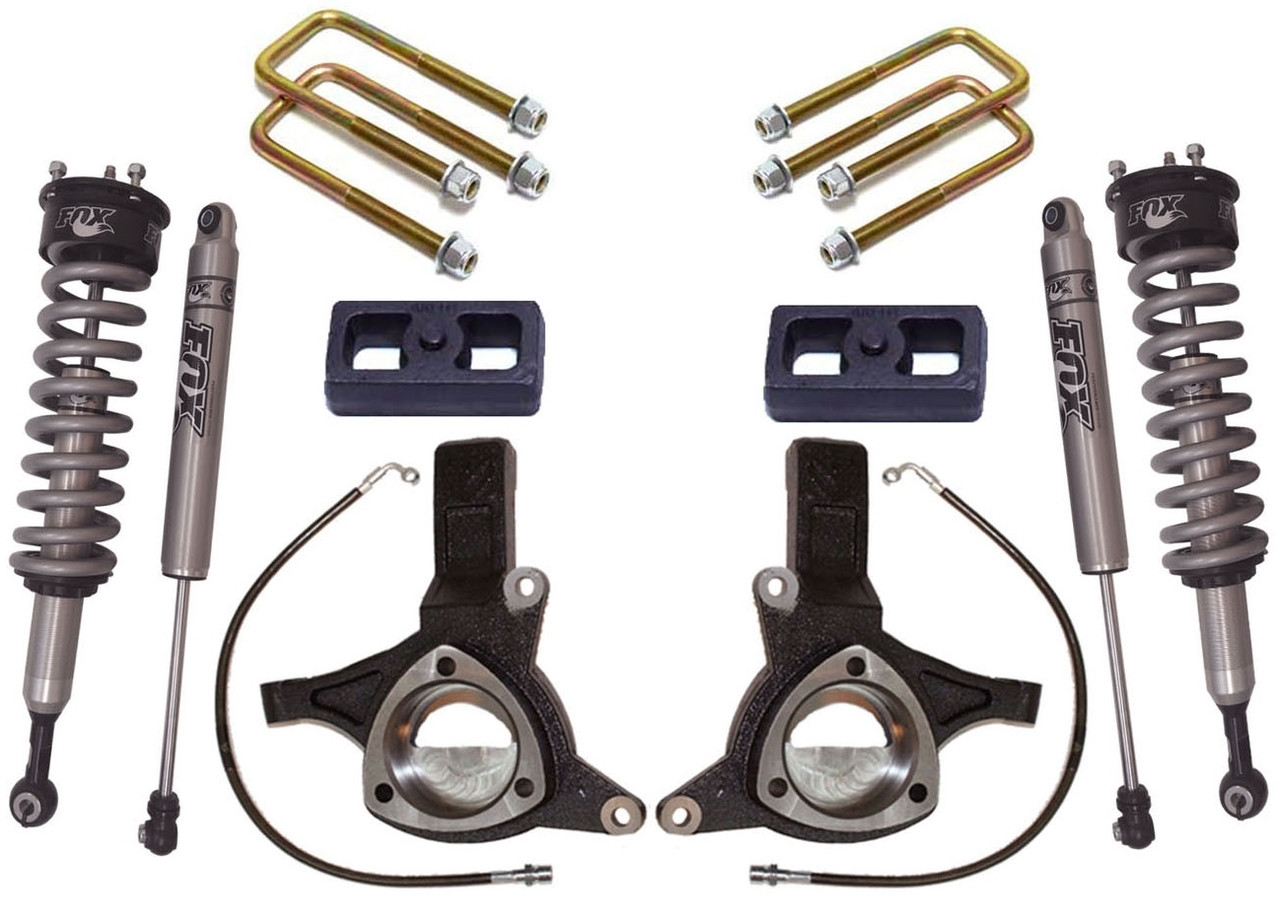 Fox Suspension Lift Kits >> 2007 2018 Chevy Silverado 1500 2wd W Cast Steel Suspension 5 5 3