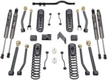 "2007-2018 Jeep Wrangler JK 2wd/4wd 4.5"" Coil Lift Kit W/ Front Track Bar, Adjustable Arms & FOX Shocks - MaxTrac K889745FA"