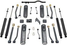 "2007-2018 Jeep Wrangler JK 2wd/4wd 4.5"" Coil Lift Kit W/ Front Track Bar, Adjustable Arms & MaxTrac Shocks - MaxTrac K889745SA"