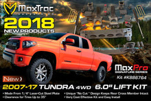 "2007-2018 Toyota Tundra 4wd 6"" Lift Kit W/ MaxTrac Shocks - MaxTrac K946764"