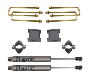 """2016-2020 GM 1500 2wd 3"""" Rear Lift Kit W/ FOX Shocks - MaxTrac 901740F"""