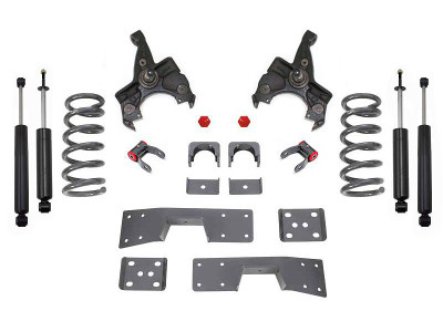 1988-1991 V8 GM C1500 & C2500 Standard Cab 4/6 Lowering Spindle Kit - MaxTrac K330546L-8