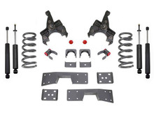 1988-1991 V6 GM C1500 & C2500 Standard Cab 4/6 Lowering Spindle Kit - MaxTrac K330546L-6