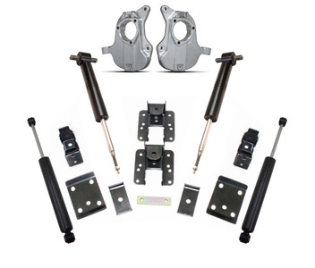 """2016-2018 Chevy & GMC 1500 2wd Adjustable 3/5"""" or 4/6"""" Lowering Kit - MaxTrac KA331336"""