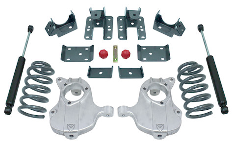 """2016.5-2018 GM 1500 2wd (Extended / Crew Cab) 3/5"""" Lowering Kit - MaxTrac KA331535-8"""