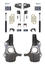 """2019-2022 GM 1500 2wd/4wd Pickup 2/4"""" Spindle Lowering Kit - MaxTrac KS331924"""