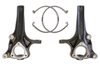 """2019-2022 Dodge RAM 1500 2wd 6 Lug Non Factory 22s 4"""" Lift Spindles W/ Extended Brake Lines - MaxTrac 702740"""
