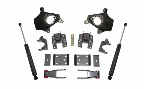 """2014-2016 GM 1500 2wd/4wd 2/4"""" Lowering Kit (Magneride Models)- MaxTrac KS331324M"""