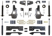 """2019-2022 GM 1500 2wd/4wd Pickup 3/5"""" Spindle Lowering Kit - MaxTrac KS331946S"""