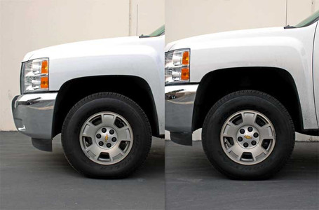"""2007-2018 Chevy Silverado 1500 2wd/4wd 2"""" Lift Strut Spacers - MaxTrac 831320 (Installed After)"""