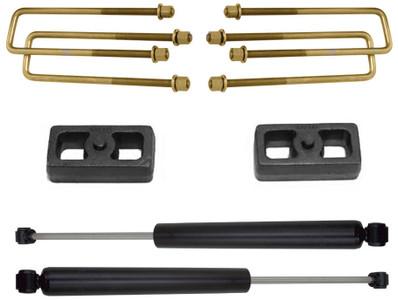 """2007-2020 GMC Sierra 1500 2wd 2"""" Lift Blocks & U-Bolts W/ MaxTrac Rear Shocks - MaxTrac 901320"""