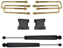 """2007-2015 GMC Sierra 1500 2wd 2"""" Lift Blocks & U-Bolts W/ MaxTrac Rear Shocks - MaxTrac 901330"""