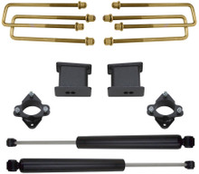 "2007-2018 Chevy Silverado 1500 2wd 3"" Front/4"" Rear Lift Kit W/ MaxTrac Rear Shocks - MaxTrac 901340"