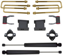 "2007-2015 Chevy Silverado 1500 2wd 3"" Front 4"" Rear Lift Kit W/ MaxTrac Shocks - MaxTrac 901355"