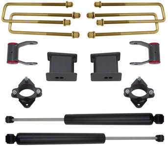 "2007-2018 Chevy Silverado 1500 2wd 3"" Front 4"" Rear Lift Kit W/ MaxTrac Shocks - MaxTrac 901355"