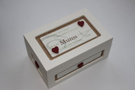Wooden hessian Mum trinket box