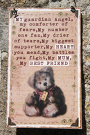 Mum Bear Plaque