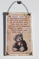 Teddy Bear Plaque