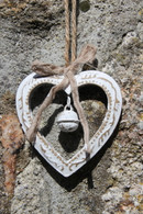 Rustic cut out heart