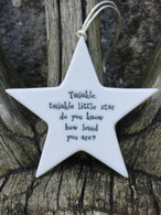 East Of India - Twinkle Twinkle Porcelain Star