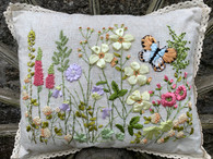 Butterfly Meadow Flower Cushion