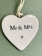 East oF India - Small porcelain Mr&Mrs Heart