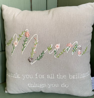 Brilliant mum cushion