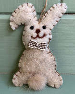 Woollen Bunny With Bow Tie