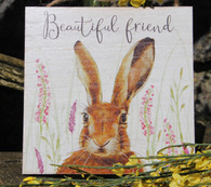 Beautiful Friend - Hare Plaque