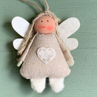 Cream Fabric Angel